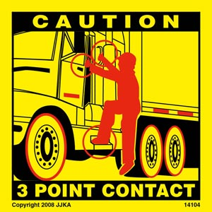 Tractor 3-Point Contact Label