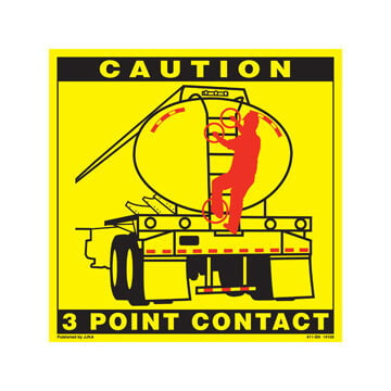 Tanker Back 3-Point Contact Label