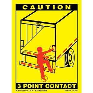 Trailer Roll Up Door 3-Point Contact Label