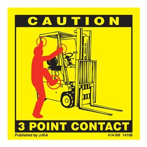 Forklift (Seated) 3-Point Contact Label