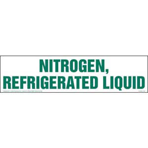 Nitrogen, Refrigerated Liquid Sign