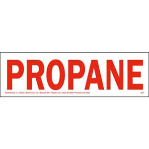 Propane Label