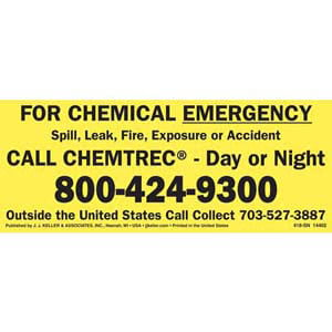 CHEMTREC® Chemical Emergency Sign