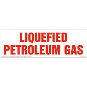 Liquefied Petroleum Gas Sign