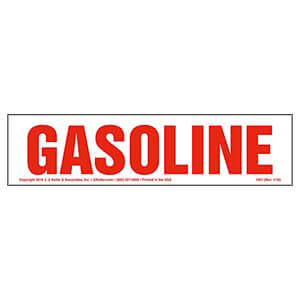 Gasoline Sign
