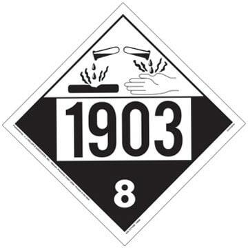 1903 Placard - Class 8 Corrosive