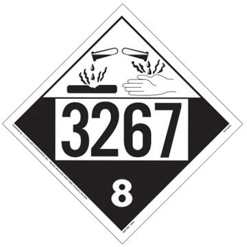 3267 Placard - Class 8 Corrosive