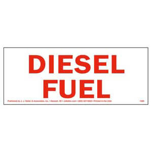 Diesel Fuel Label