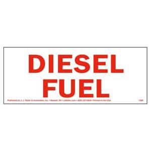 Diesel Fuel Label