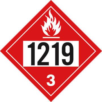 1219 Placard - Class 3 Flammable Liquid