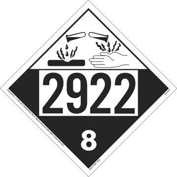 2922 Placard - Class 8 Corrosive