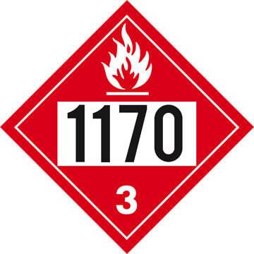 1170 Placard - Class 3 Flammable Liquid
