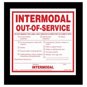 Intermodal Out-of-Service Label