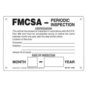 Intermodal Annual Vehicle Inspection Plate