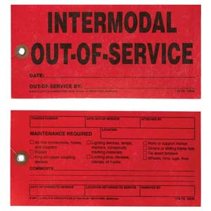 Intermodal Out-of-Service Tag