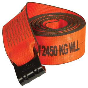 X-TREME Heavy-Duty Winch Strap w/Flat Hook - 4' Wide