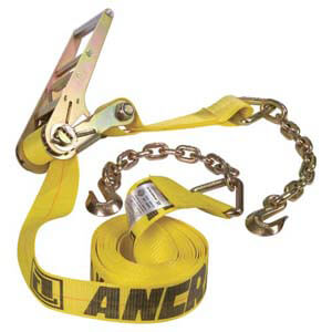 Ratchet Strap w/Chain Anchors