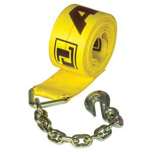 Winch Strap with Chain Anchors