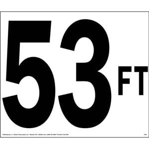 53 FT Truck Sign