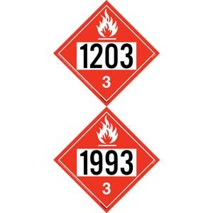 1993/1203 Placard - Class 3 Flammable Liquid