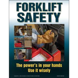 The Forklift Workshop Training Program - Awareness Poster