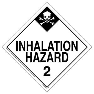Division 2.3 Inhalation Hazard Placard - Worded