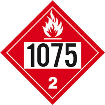 1075 Placard - Division 2.1 Flammable Gas