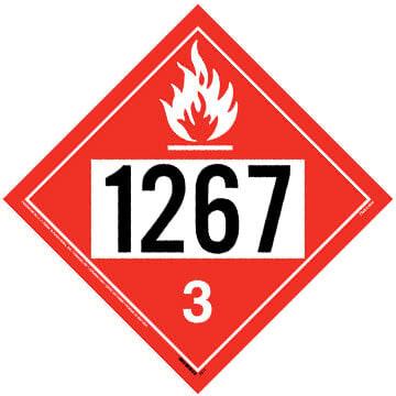 1267 Placard - Class 3 Flammable Liquid