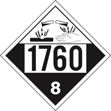 1760 Placard - Class 8 Corrosive