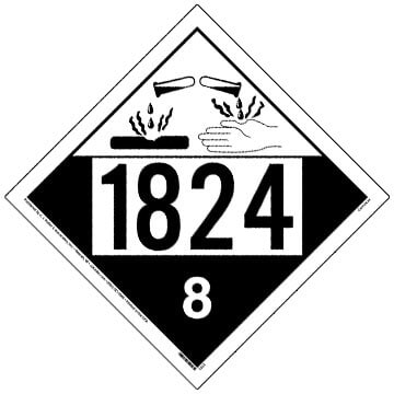 1824 Placard - Class 8 Corrosive
