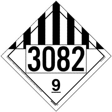 3082 Placard - Class 9 Miscellaneous