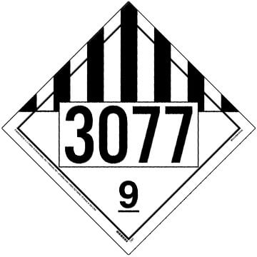 3077 Placard - Class 9 Miscellaneous