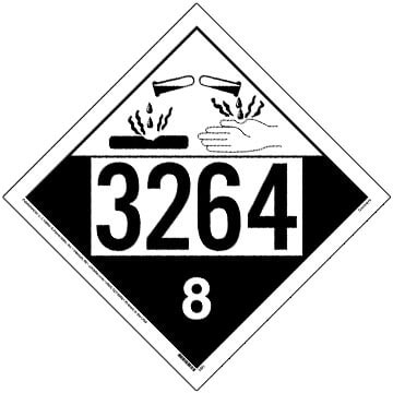 3264 Placard - Class 8 Corrosive