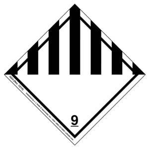 Hazardous Materials Labels - Class 9 -- Miscellaneous - Paper, Roll