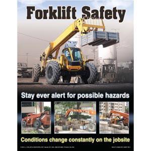 The Forklift Workshop for Construction Training Program - Awareness Poster