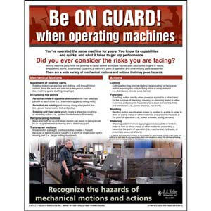 Machine Guarding - Workplace Safety Advisor Poster - 'Be On Guard'
