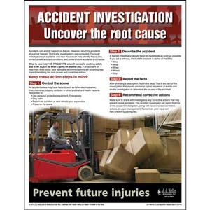 """Accident Prevention - Workplace Safety Advisor Poster - """"Accident Investigation"""""""