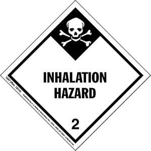 Hazardous Materials Labels - Class 2, Division 2.3 -- Inhalation Hazard - Paper, Roll