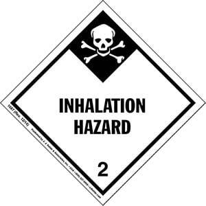 Hazardous Materials Labels - Class 2, Division 2.3 -- Inhalation Hazard - Paper, Roll