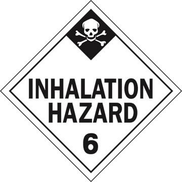 Division 6.1 Inhalation Hazard Placard - Worded