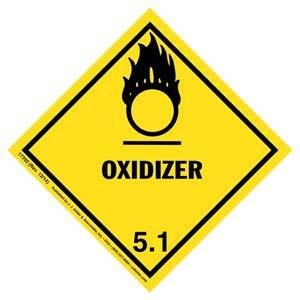 Hazardous Materials Labels - Class 5, Division 5.1 -- Oxidizer - Poly
