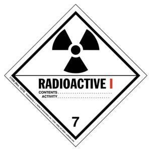 Hazardous Materials Labels - Class 7 -- Radioactive I - Poly