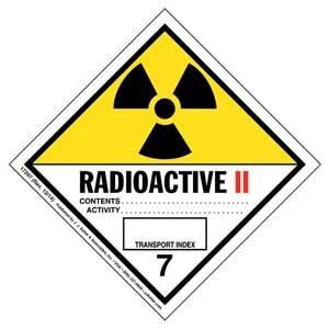 Hazardous Materials Labels - Class 7 -- Radioactive II - Poly