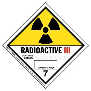 Hazardous Materials Labels - Class 7 -- Radioactive III - Poly