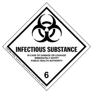 Hazardous Materials Labels - Class 6, Division 6.2 -- Infectious Substance - Poly