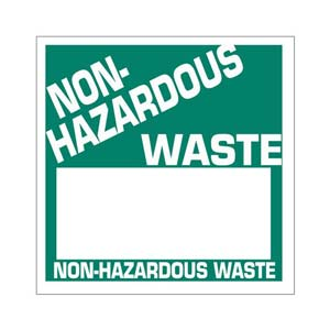 Non-Hazardous Waste Label