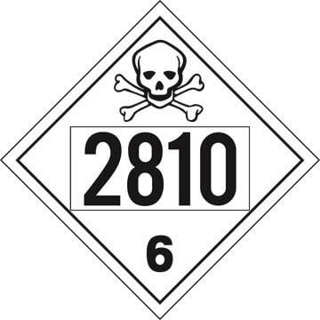 2810 Placard - Division 6.1 Poison