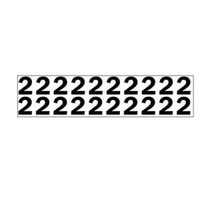 Individual 1.25' Vinyl Numbers - 2 (Two)