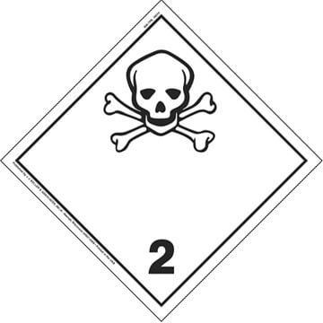 International Dangerous Goods Placard - Toxic Gas (Class 2), Vinyl