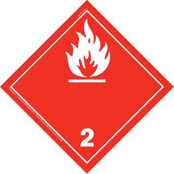 International Division 2.1 Flammable Gas Placard - Wordless